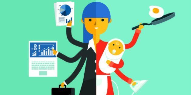 businesswoman and mother, career and motherhood