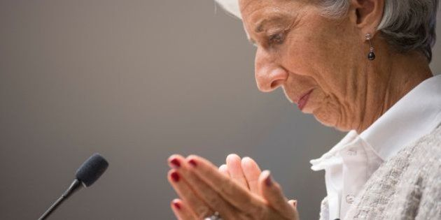 International Monetary Fund Managing Director Christine Lagarde speaks at the Center for Global Development...