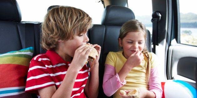 Kids eating fast