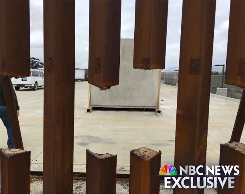 New photo shows border wall steel prototype cut through with common saw.