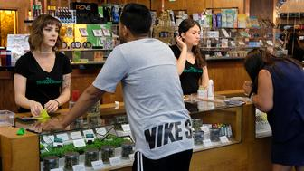 Legal California weed shops prepare for liftoff. (AP)
