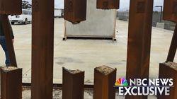 트럼프의 국경장벽 시제품은 톱으로 절단된다