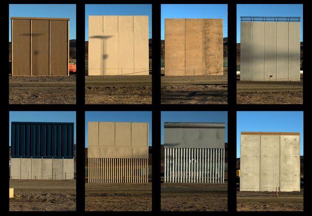 트럼프 정부가 미국 샌디에이고 인근 멕시코 국경에 제작한 '국경 장벽' 프로토타입