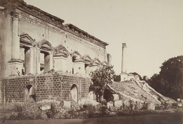 Samru's Palace at Chandni Chowk after the rebellion of