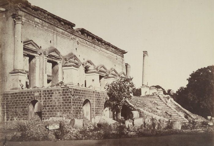 Samru's Palace at Chandni Chowk after the rebellion of 1857.