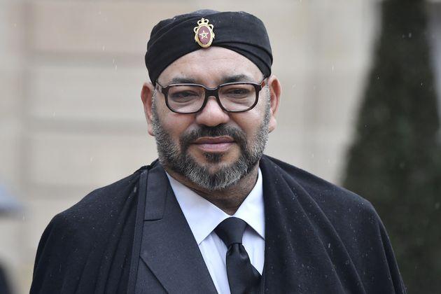 Le roi Mohammed VI lors des commémorations du 11 novembre à Paris, en France