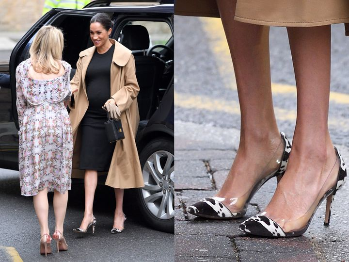 Meghan Markle arrives at Smart Works, a charity providing clothing and interview tips to women, of which she is now a patron.