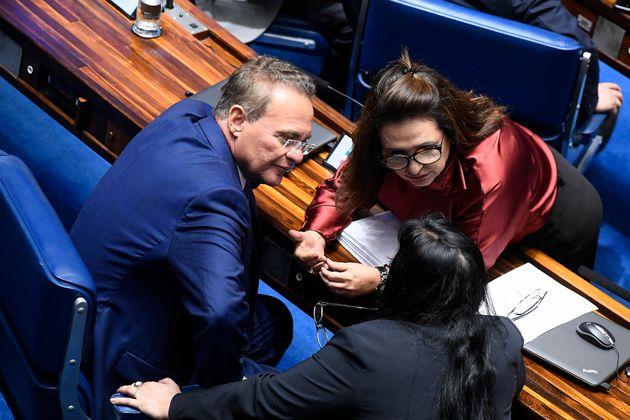 Katia Abreu (PDT-TO) defende candidatura de Renan Calheiros (MDB-AL), mas PDT quer que ela lance seu...