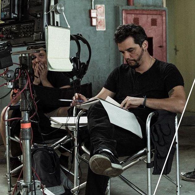 Wagner Moura no set do filme
