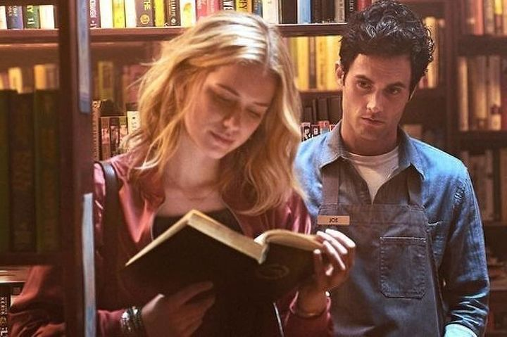 "Penn Badgley and Elizabeth Lail in the Lifetime series ""You,"" which is now streaming on Netflix."