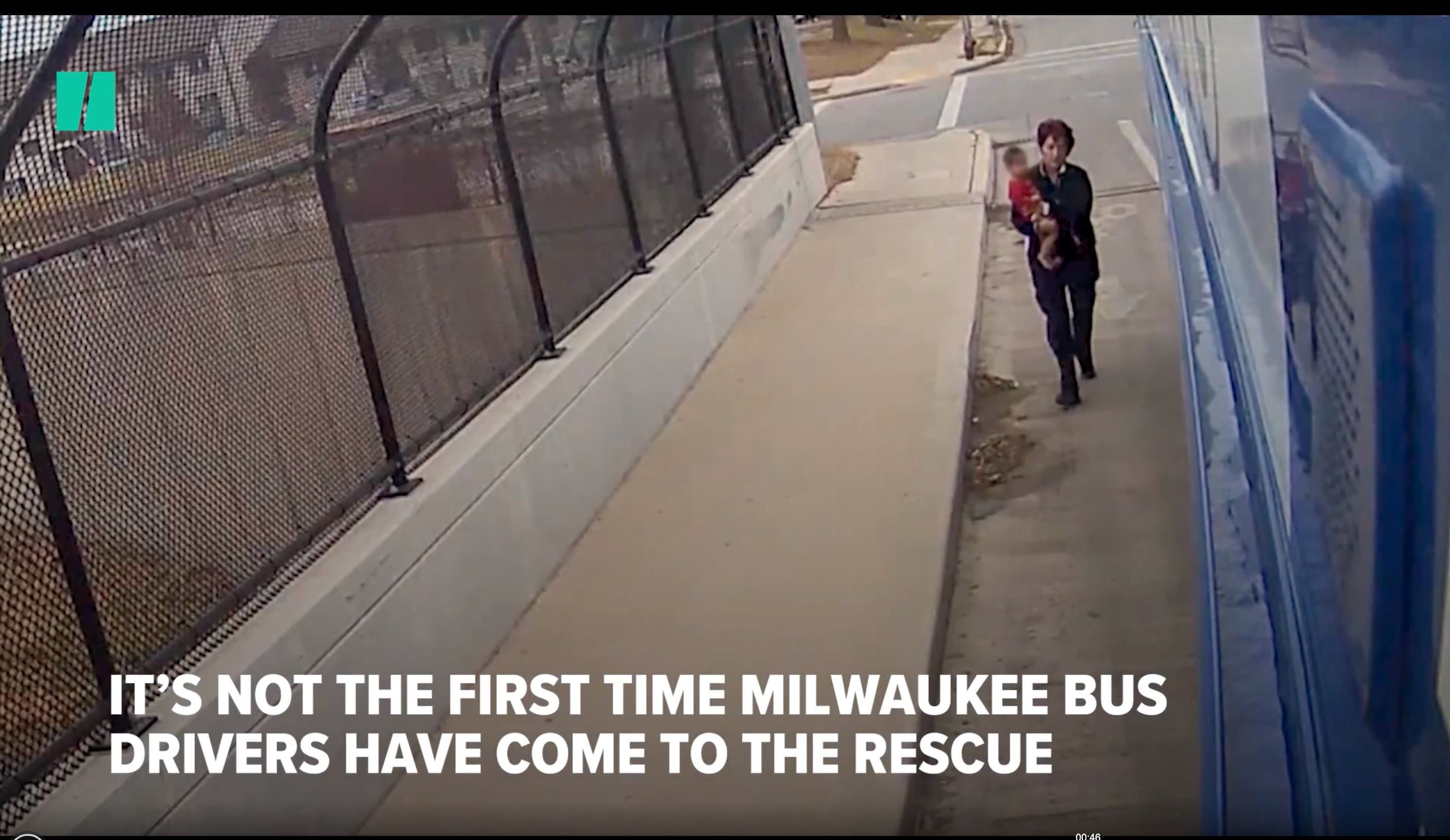 A Milwaukee bus driver's dramatic rescue of a young boy was caught on video.