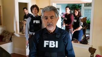 LOS ANGELES - NOVEMBER 28: 'Chameleon' - Rossi questions his actions in the aftermath of a near-death struggle with a serial killer who appears to have outsmarted the BAU, on CRIMINAL MINDS, Wednesday, Jan. 23 (10:00 - 11:00 PM, ET/PT) on the CBS Television Network.  Gail O'Grady returns as Krystall, Rossi's girlfriend.  Pictured: Joe Mantegna (David Rossi), Matthew Gray Gubler (Dr. Spencer Reid), Adam Rodriguez (Luke Alvez), Daniel Henney (Matt Simmons), Aisha Tyler (Dr. Tara Lewis)   (Photo by Cliff Lipson/CBS via Getty Images)
