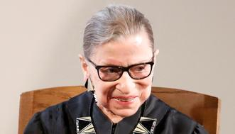 Associate Justice of the U.S. Supreme Court Ruth Bader Ginsburg sits during the U.S. Citizenship and Immigration Services (USCIS) naturalization ceremony at the New York Historical Society Museum and Library in Manhattan, New York, U.S., April 10, 2017. REUTERS/Shannon Stapleton