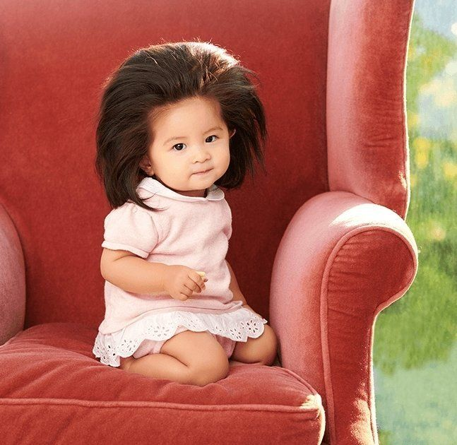 Baby Who Went Viral For Her Majestic Mane Is Now A Hair Model