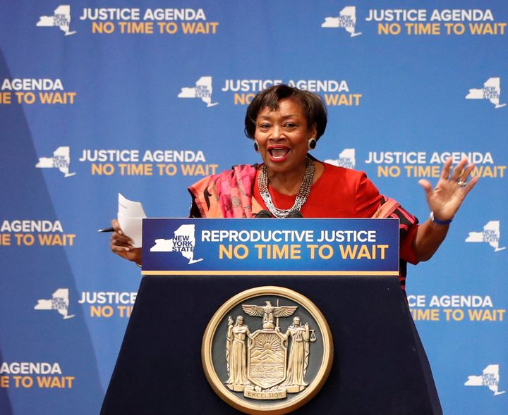 New York state Sen. Andrea Stewart-Cousins and fellow Democrats say they will pass election reform Monday.