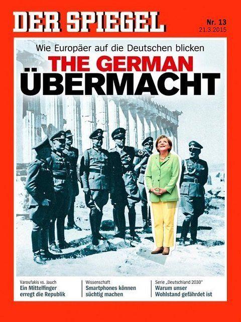Το εν λόγω εξώφυλλο του περιοδικού Spiegel