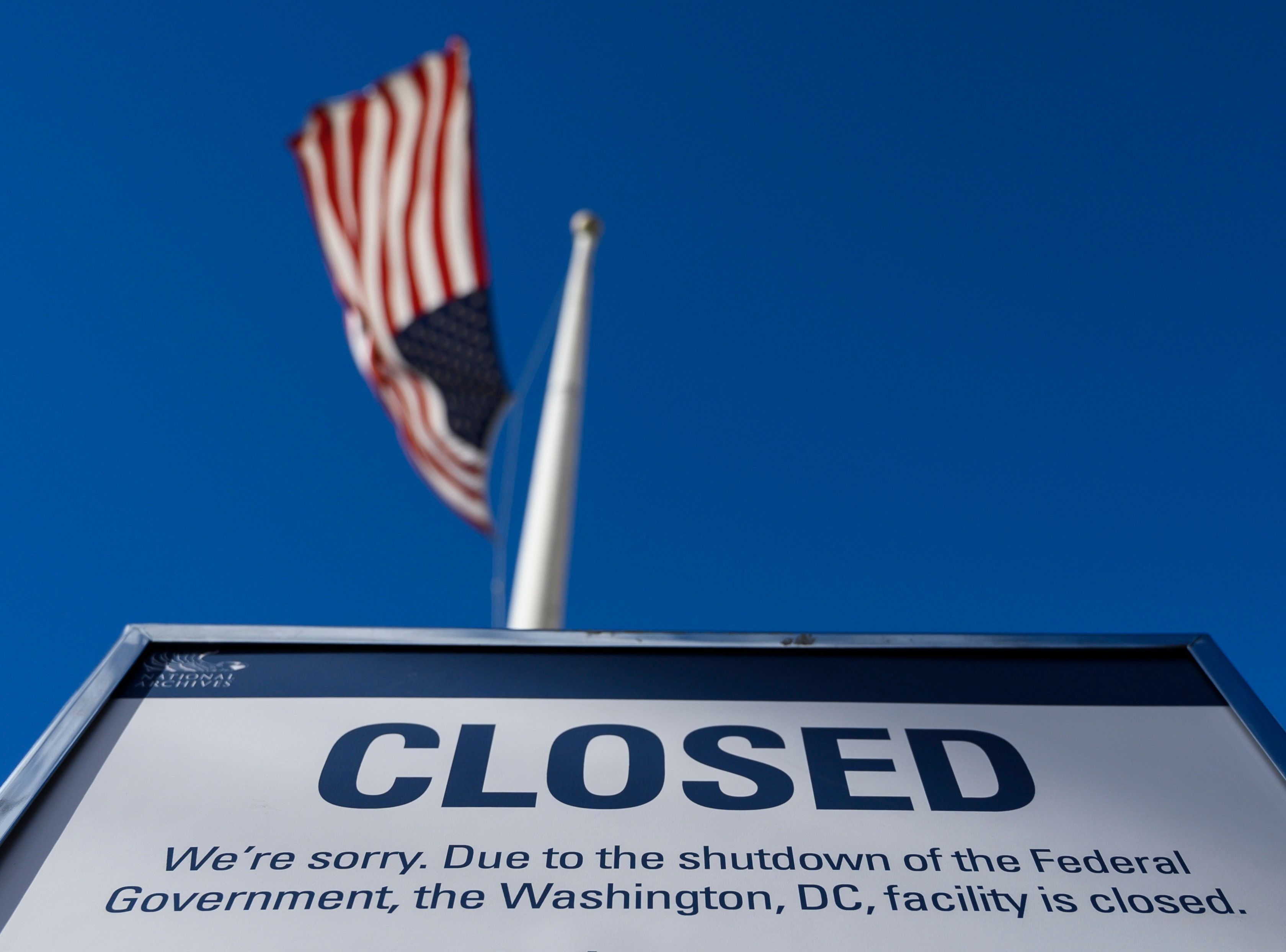 Blank Payslips For US Federal Workers As Shutdown Drags