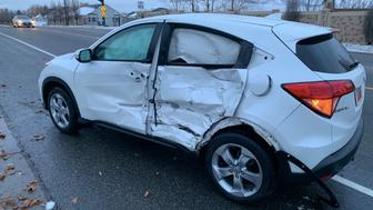 Layton Police Department tweeted photos of the collision.