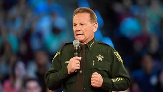 Broward County Sheriff Scott Israel speaks before the start of a CNN town hall meeting on February 21, 2018, at the BB&T Center, in Sunrise, Fla. Israel said it made him 'sick to my stomach' when he learned that the school resource officer had not entered Marjory Stoneman Douglas to confront the shooter. (Michael Laughlin/Sun Sentinel/TNS via Getty Images)