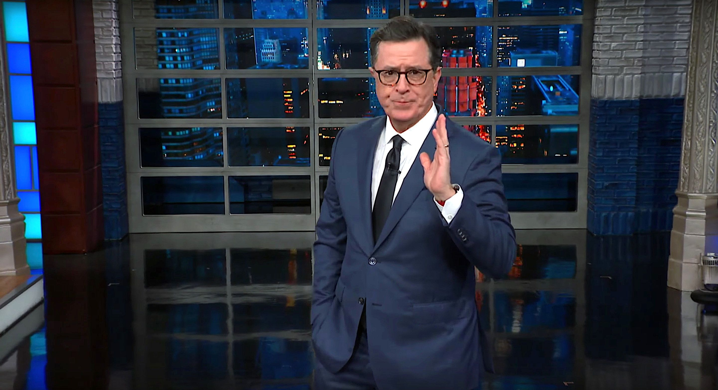Westlake Legal Group 5c39820224000066009f98d3 Stephen Colbert Finds Business Opportunities In Trump's Government Shutdown