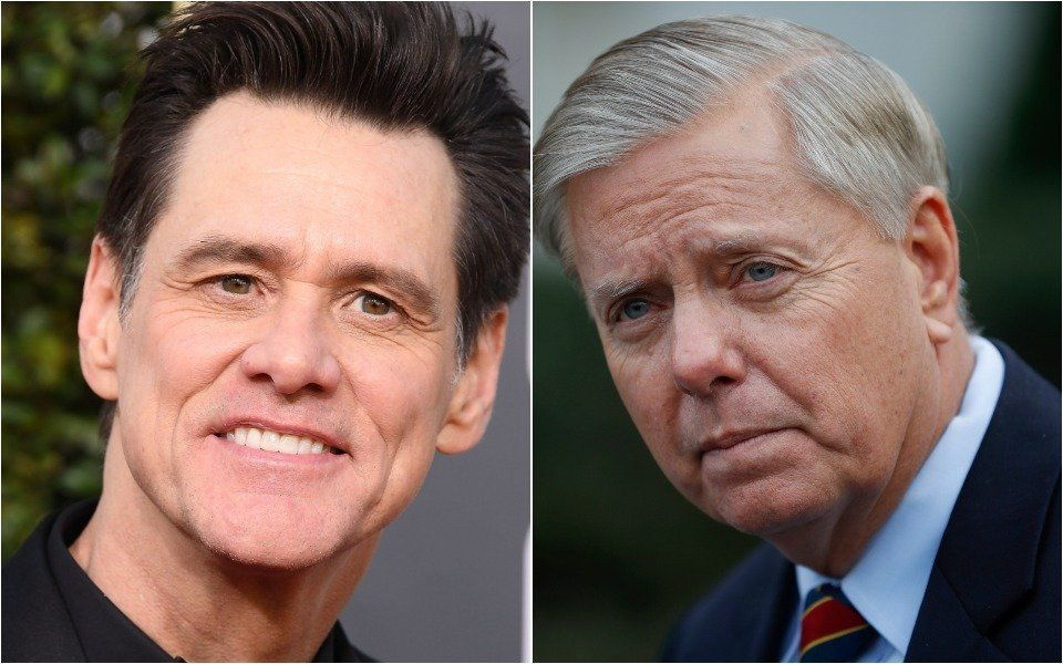 Jim Carrey and Lindsey Graham