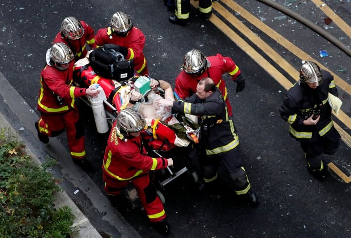 Emergency services responded to the blast on Saturday morning.