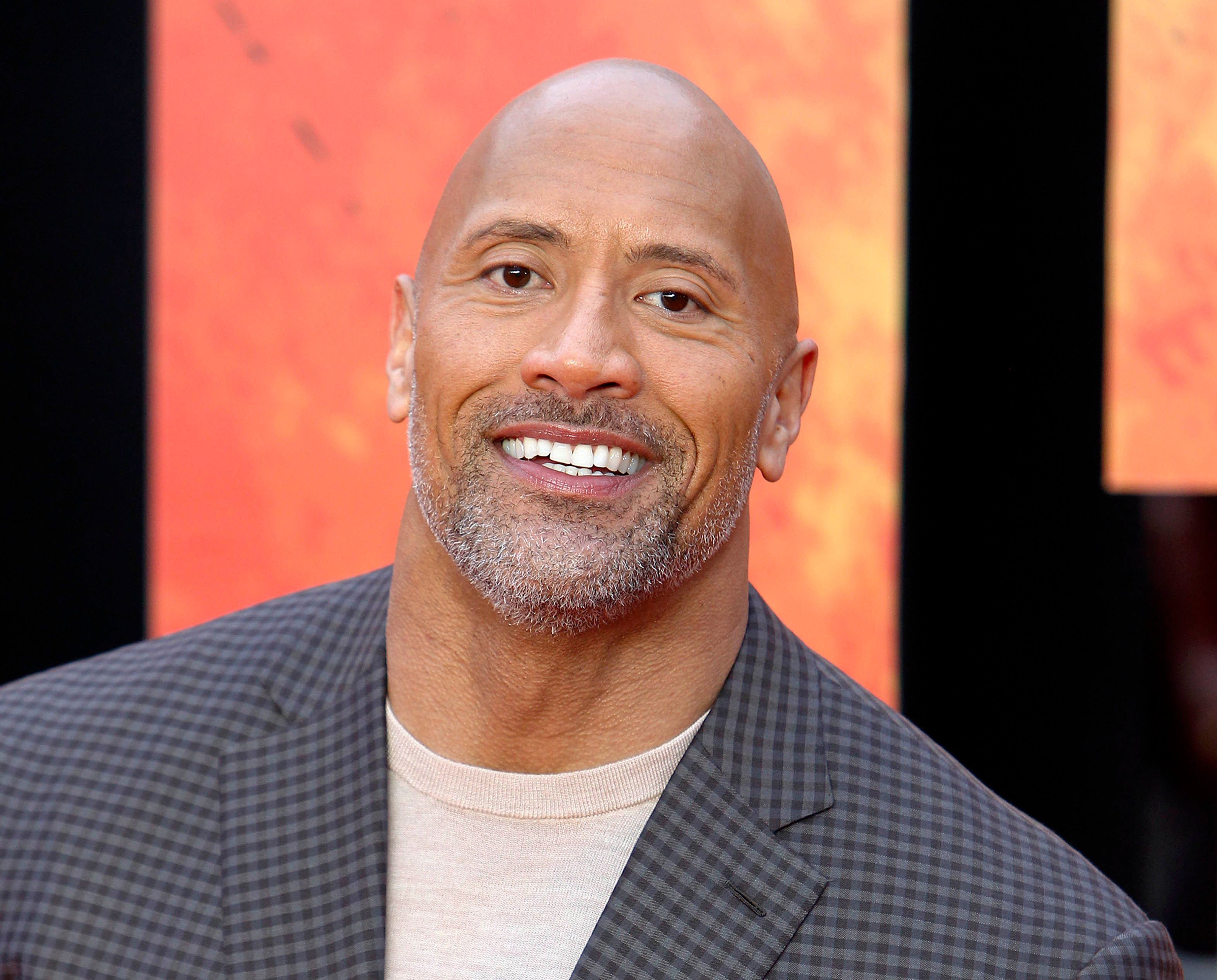 "Photo by: zz/KGC-254/STAR MAX/IPx 2018 4/11/18 Dwayne The Rock Johnson at the European premiere of ""Rampage"" held at Cineworld Leicester Square. (London, England, UK)"