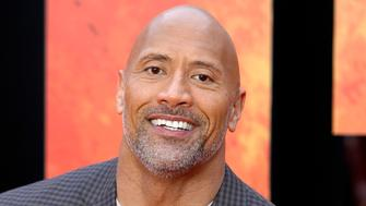 """Photo by: zz/KGC-254/STAR MAX/IPx 2018 4/11/18 Dwayne The Rock Johnson at the European premiere of """"Rampage"""" held at Cineworld Leicester Square. (London, England, UK)"""