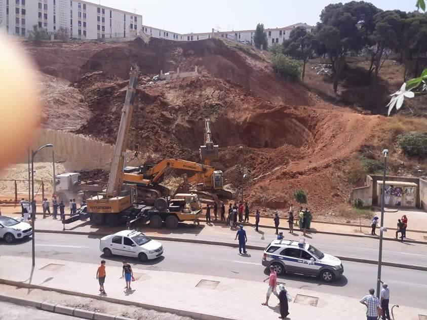 Glissement de terrain à Alger : réouverture partielle de la route les deux prochains