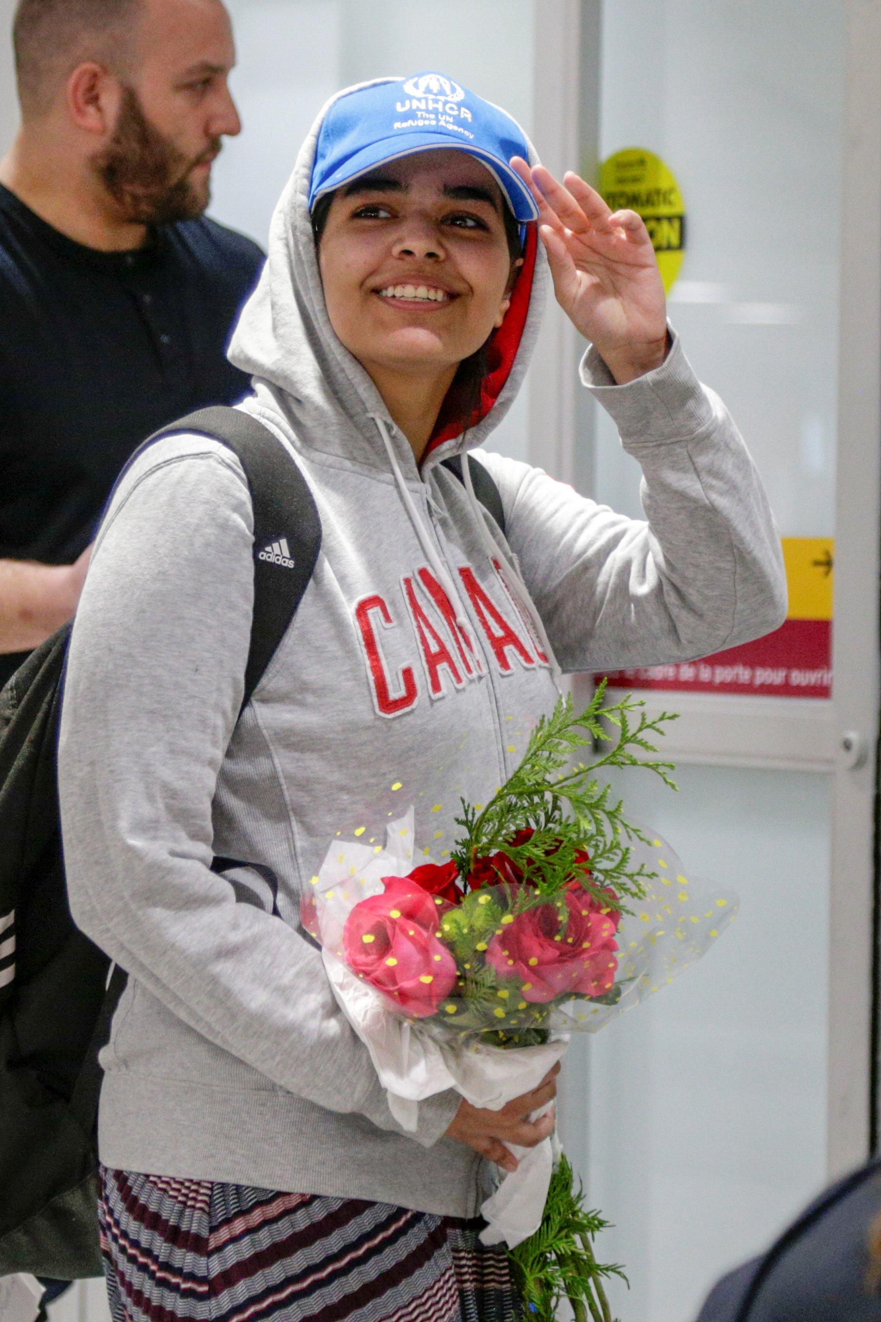 Après avoir fui l'Arabie saoudite, Rahaf Mohammed al-Qunun trouve asile au