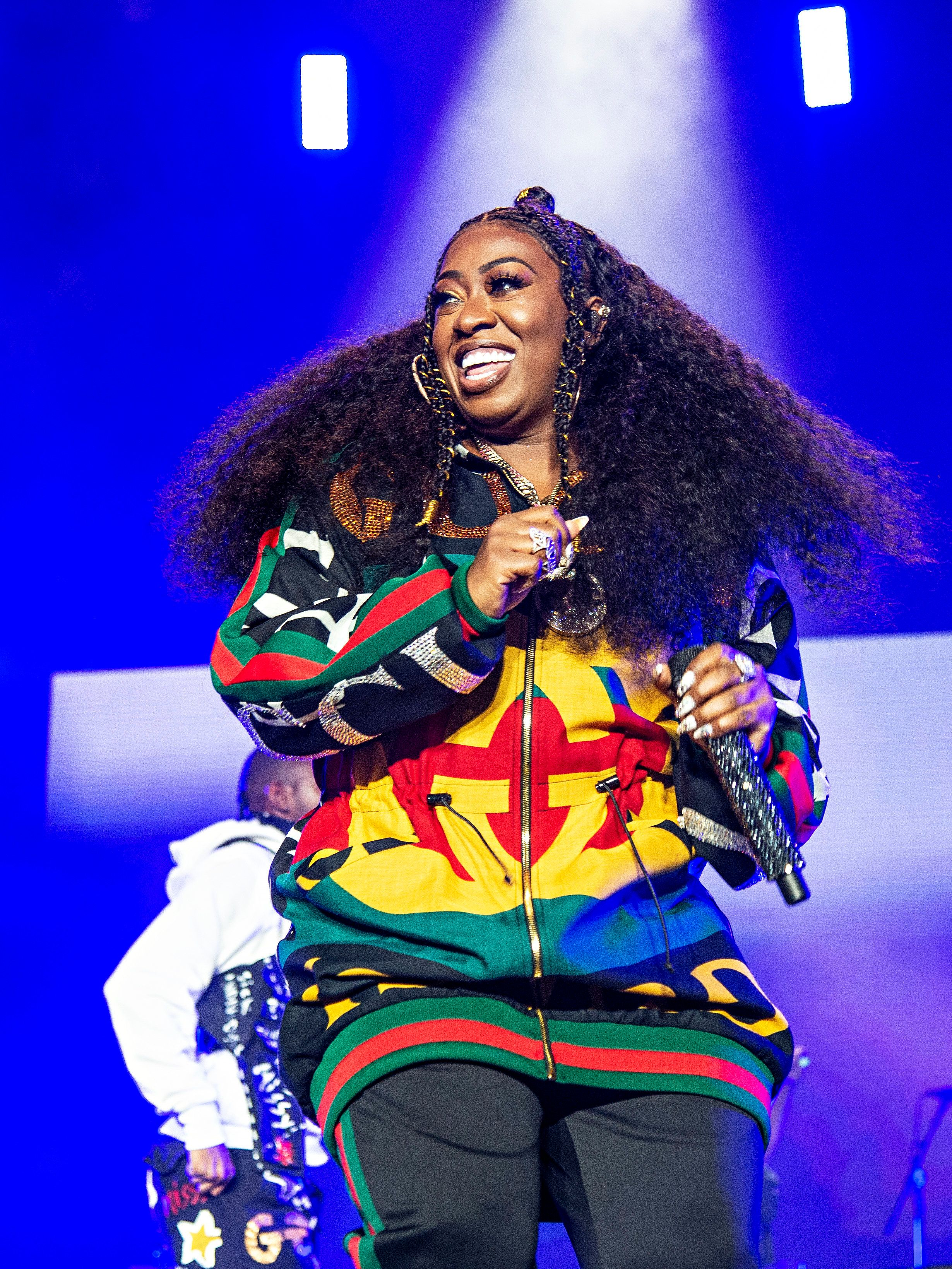 Missy Elliott performs at the 2018 Essence Festival at the Mercedes-Benz Superdome on Saturday, July 7, 2018, in New Orleans. (Photo by Amy Harris/Invision/AP)