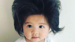 엄청난 머리숱을 가진 아기가 팬틴의 모델이 되다 (사진,
