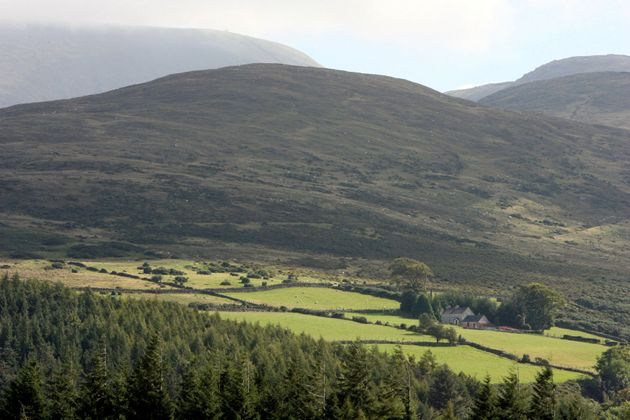 The Mourne Mountains in County Down, Northern Ireland.