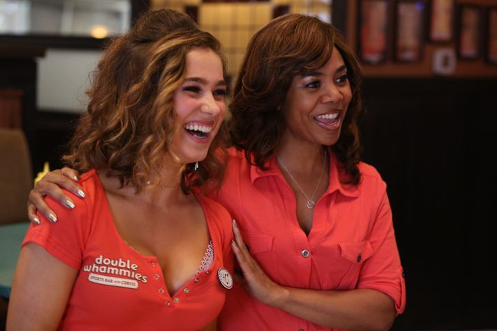 """Haley Lu Richardson and Regina Hall in """"Support the Girls."""""""