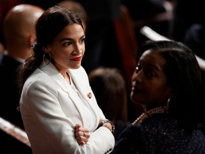 Freshman Democratic Rep. Alexandria Ocasio-Cortez of New York is alarming some Democrats by pushing the party to the left.