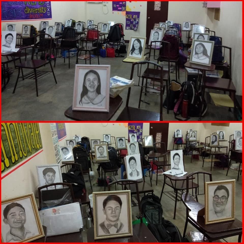반 학생 27명에게 초상화를 그려 선물한