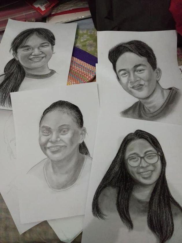 필리핀의 한 선생님이 반 학생 27명에게 초상화를 그려