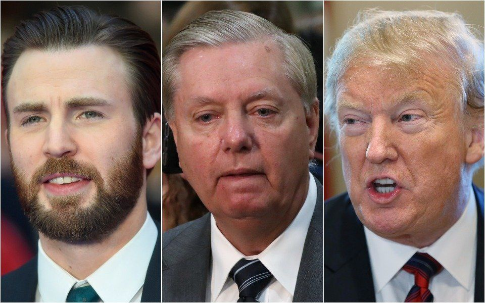 Chris Evans, Lindsey Graham, Donald Trump