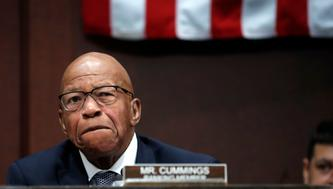 Rep. Elijah Cummings, D-Md., ranking member of the House Committee on Oversight and Government Reform, pauses as he pleads with Republican colleagues to intervene in the separation of immigrant families at the border, during opening remarks at a joint House Committee on the Judiciary and House Committee on Oversight and Government Reform, hearing examining the Inspector General's report of the FBI's Clinton email probe, on Capitol Hill, Tuesday, June 19, 2018 in Washington. (AP Photo/Jacquelyn Martin)