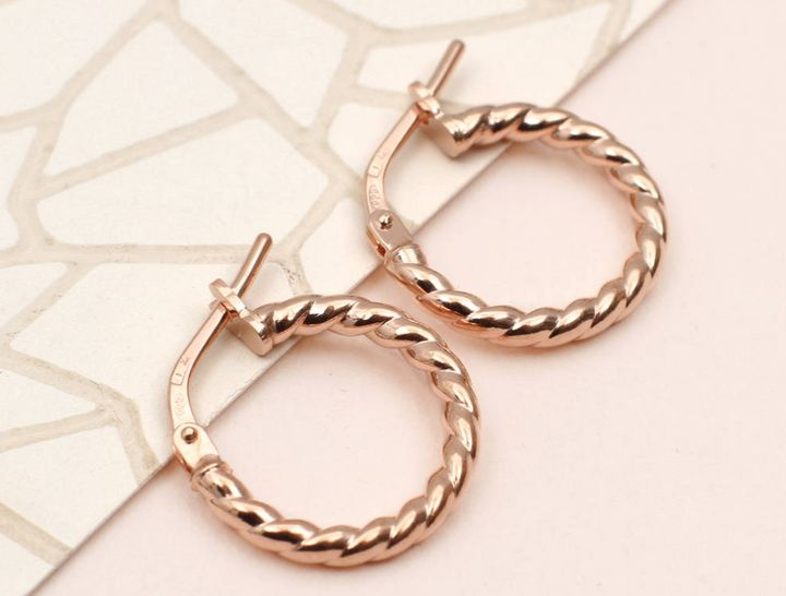 dc64cbd9069c60 If you fancy something with a little more detail than the simple hoop,  these twisted yellow gold, rose gold or silver huggies from Hurley Burley,  ...