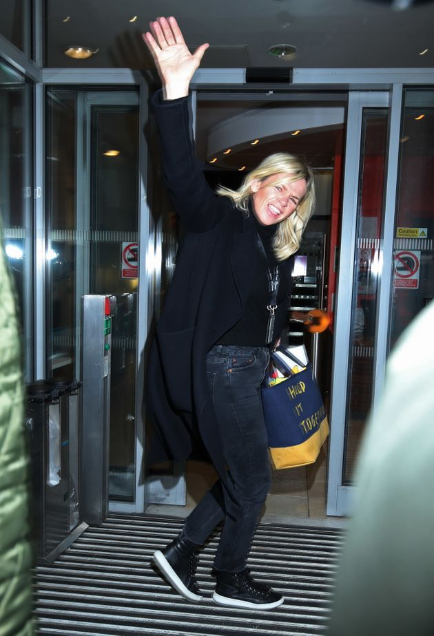 Zoe was in high spirits as she arrived for