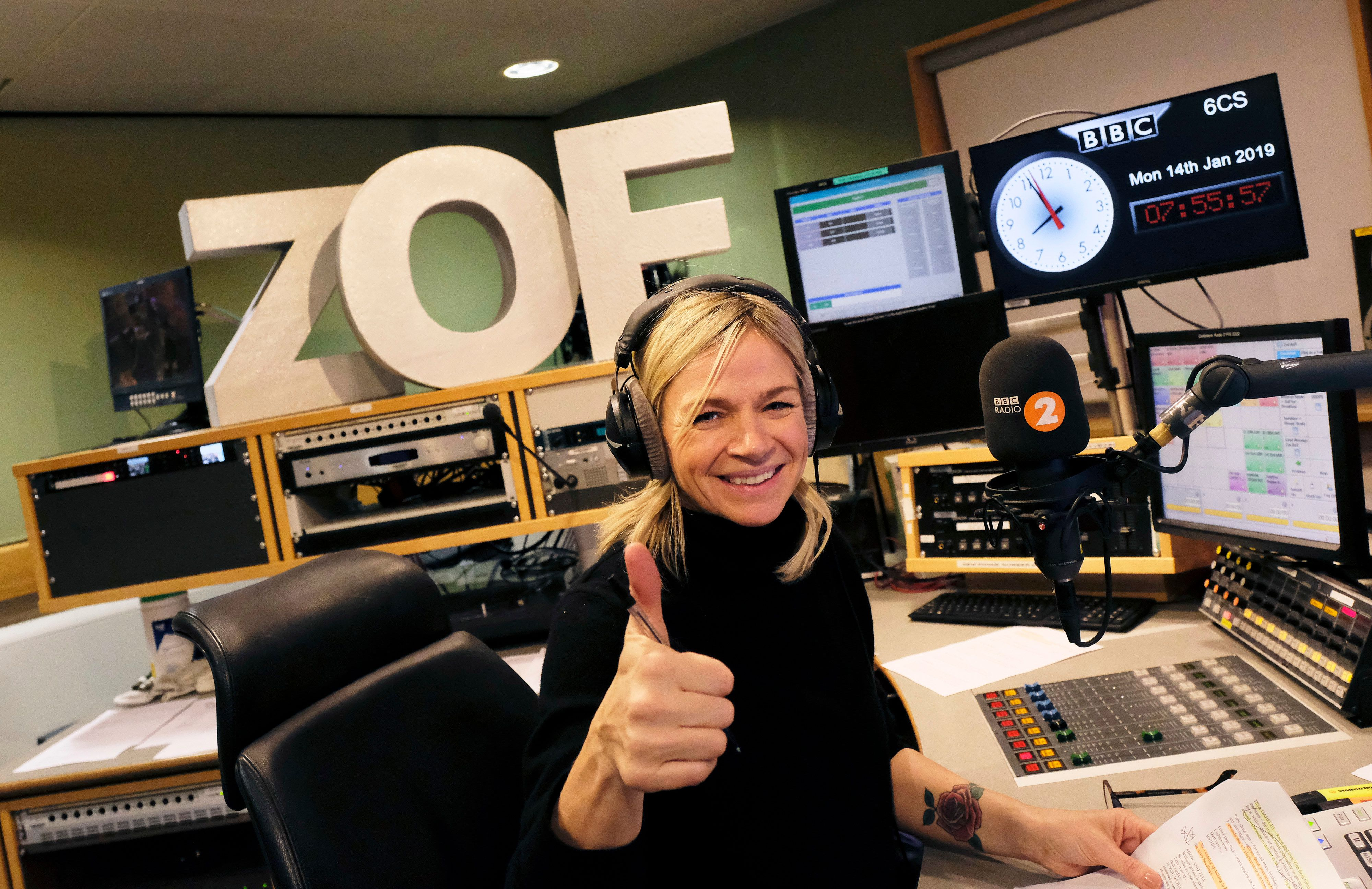 Zoe Ball Gets The Thumbs Up From Radio 2 Listeners As She Makes Breakfast Show
