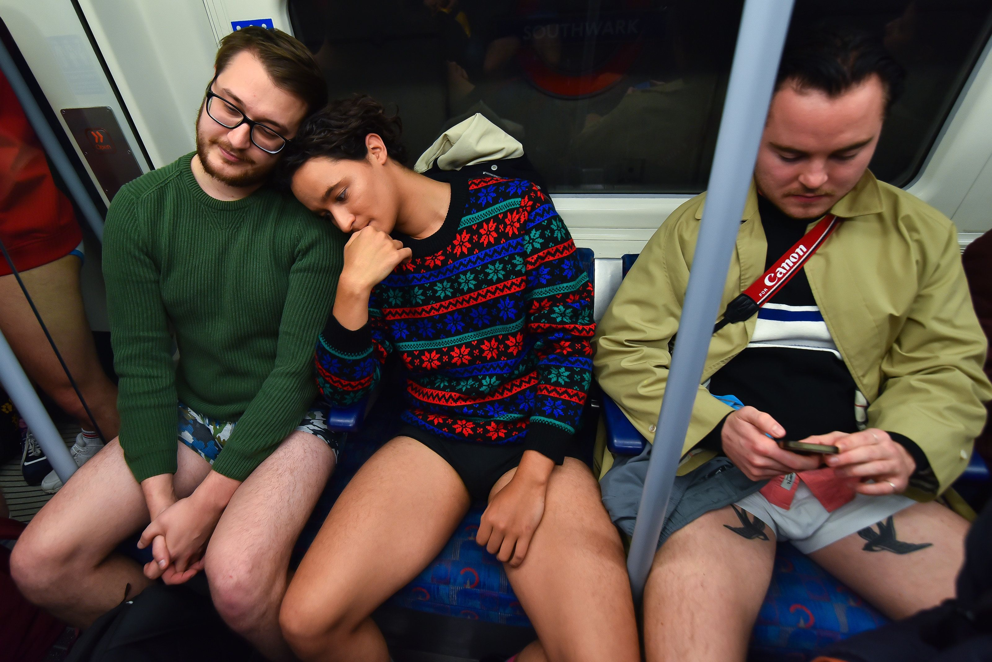 Londoners Ditched Their Trousers To Travel On The Tube – All In The Name Of