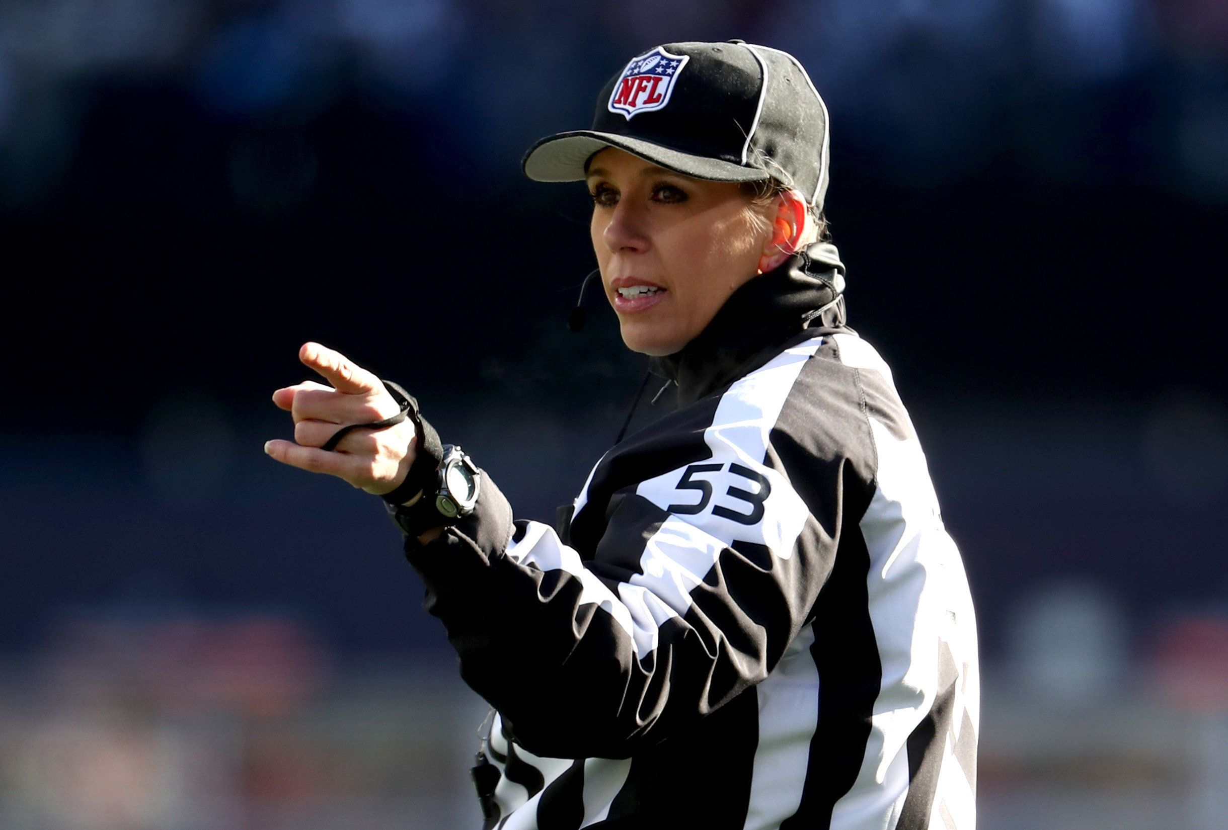 Sarah Thomas Becomes The First Woman To Officiate NFL Playoff