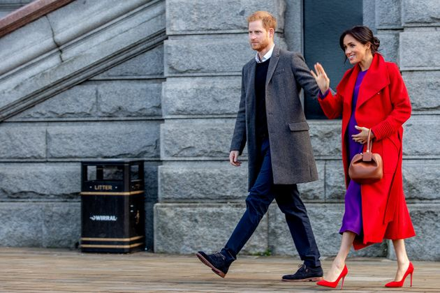Britain's Prince Harry, Duke of Sussex and Meghan, Duchess of Sussex visit Birkenhead, Britain on Jan.