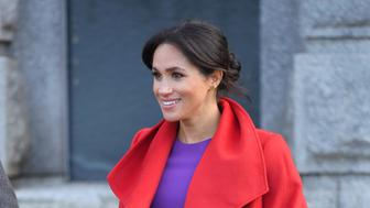 BIRKENHEAD, UNITED KINGDOM - JANUARY 14:  Meghan, Duchess of Sussex meets members of the public during a visit of Birkenhead at Hamilton Square on January 14, 2019 in Birkenhead, UK.  (Photo by Karwai Tang/WireImage)