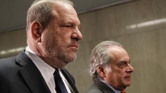 NEW YORK, NEW YORK - DECEMBER 20: Harvey Weinstein (L)  arrives with his lawyer Benjamin Brafman for a court hearing at New York Criminal Court,on December 20, 2018 in New York City. After numerous problems in the prosecutions case against the movie mogul have emerged, Harvey Weinstein's legal team tried to persuade a judge that the sexual assault charges against him should be dropped and the case thrown out however the judge ruled against him. (Photo by Spencer Platt/Getty Images)