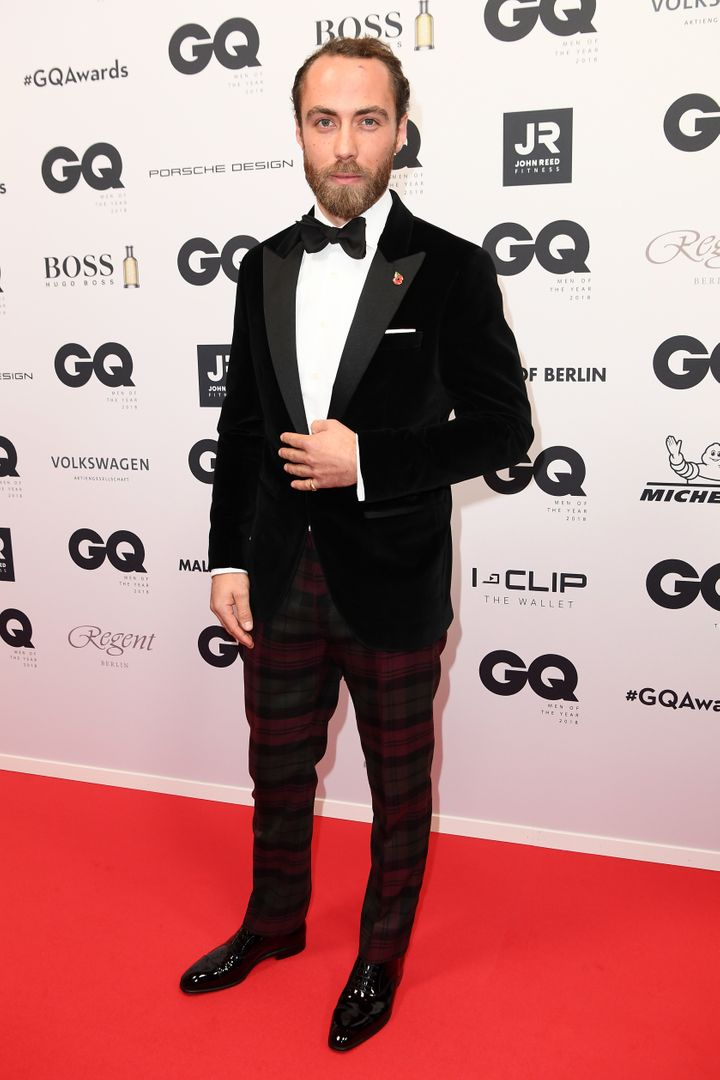 James Middleton arrives for the 20th GQ Men of the Year Award on Nov.8, 2018 in Berlin, Germany.