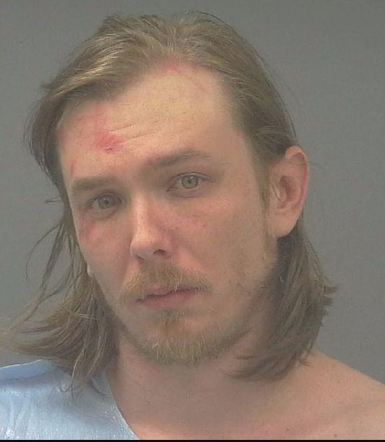 Bryan Stewart, of Milton, Florida, was arrested Jan. 10 after allegedly threatening a neighbor with a machete.