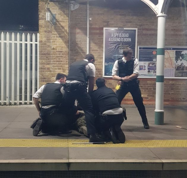 The man was detained by police on the platform at Tulse